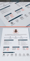 Free CV Resume Psd Template by Designhub719