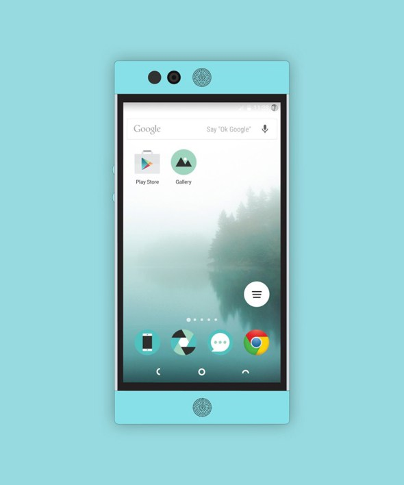 Free Flat Nextbit Robin Mockup Download by Designhub719