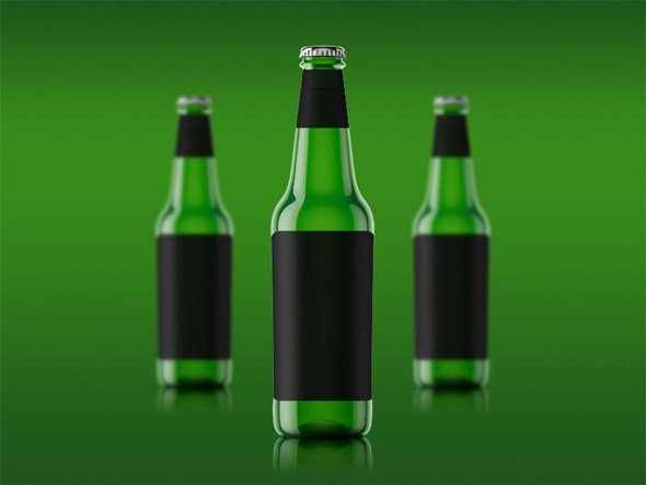 Free Beer Bottle Mockup Psd Download by Designhub719