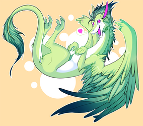 Tropical Dragon by grinningLotus