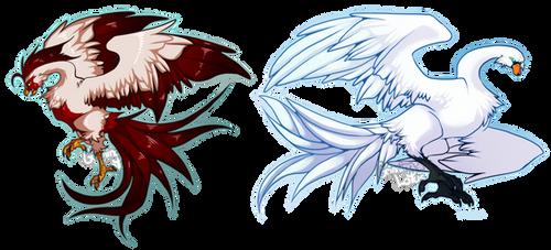 Assorted Phoenixes by grinningLotus