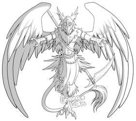 Digimon: Falseprophetmon by grinningLotus