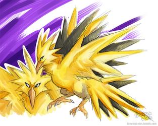 Pokemon: Zapdos by grinningLotus