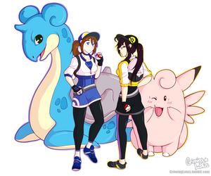 PkmGo: Zanz and Lotus by grinningLotus