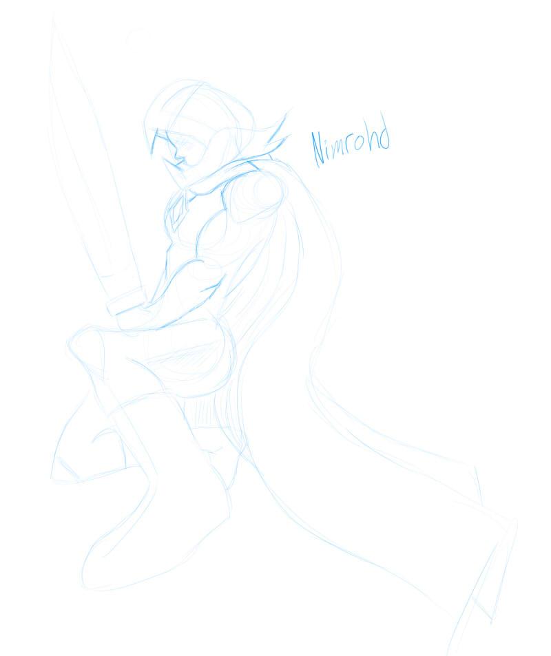 RuneScape Nimrohd Sketch by TapSkill