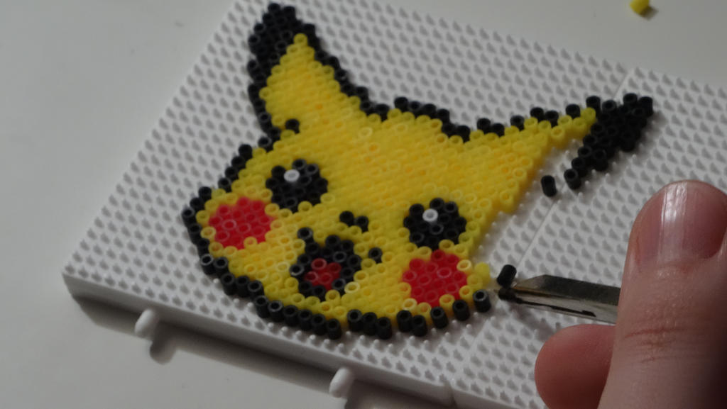pikachu made with mini hama beads by kitiket100 on deviantart. Black Bedroom Furniture Sets. Home Design Ideas