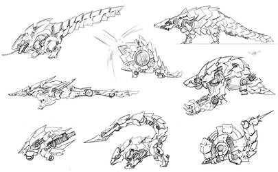 Mecha pangolin variations