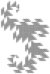 Dragon Curve, Made with Equilateral triangle 10th