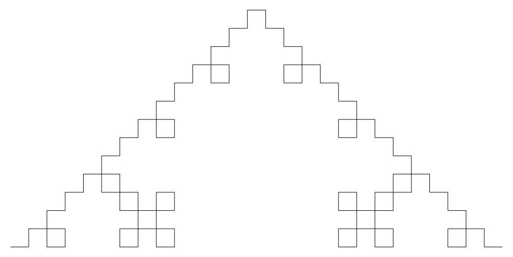 Quadratic Koch curve type 1 3rd iteration by GarrettNelson ...  Quadratic Koch ...