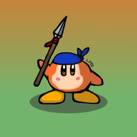 Bandana Waddle Dee with Spear by LiquidFrogStudios