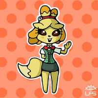 Chibi Isabelle by LiquidFrogStudios