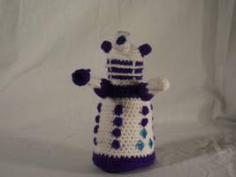 My Little Dalek- Rarity by Country-Geek-Crochet
