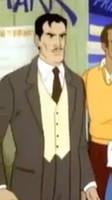 Tony Stark is Wearing a Brown suit