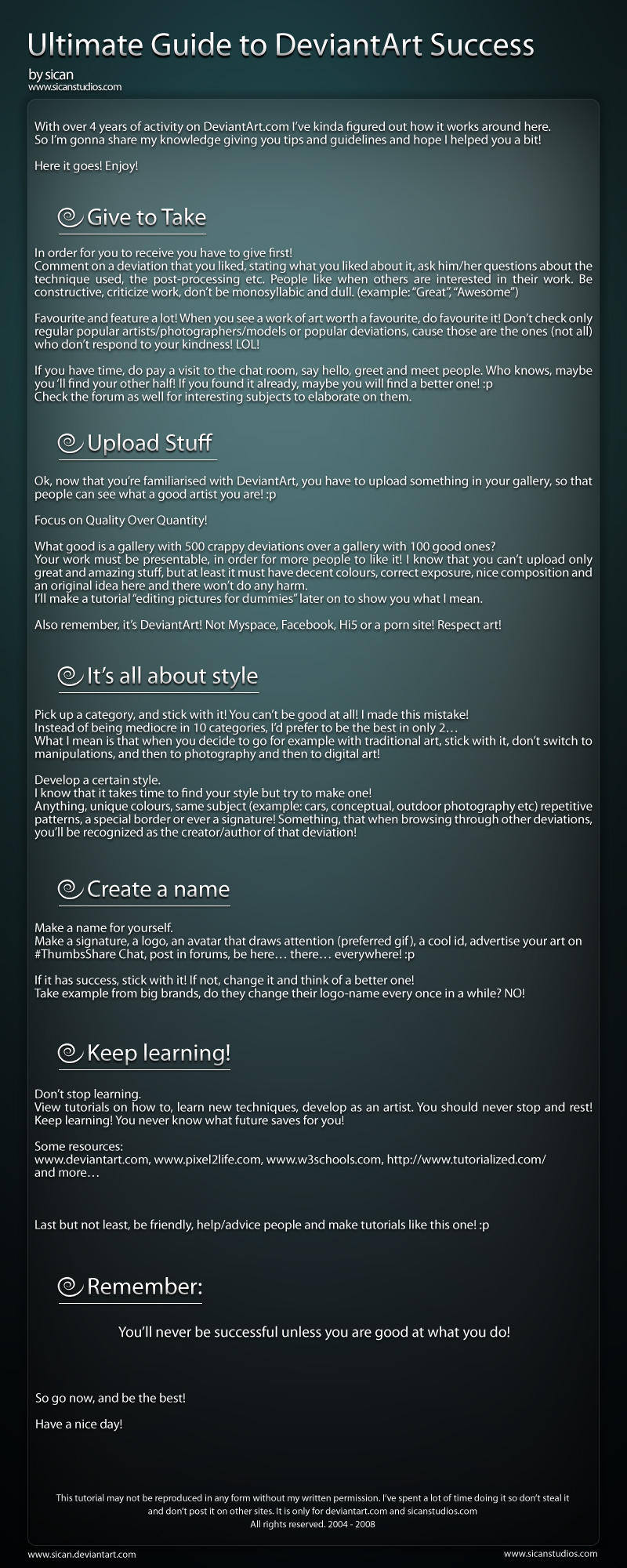 Guide to DeviantArt Success $ by sican