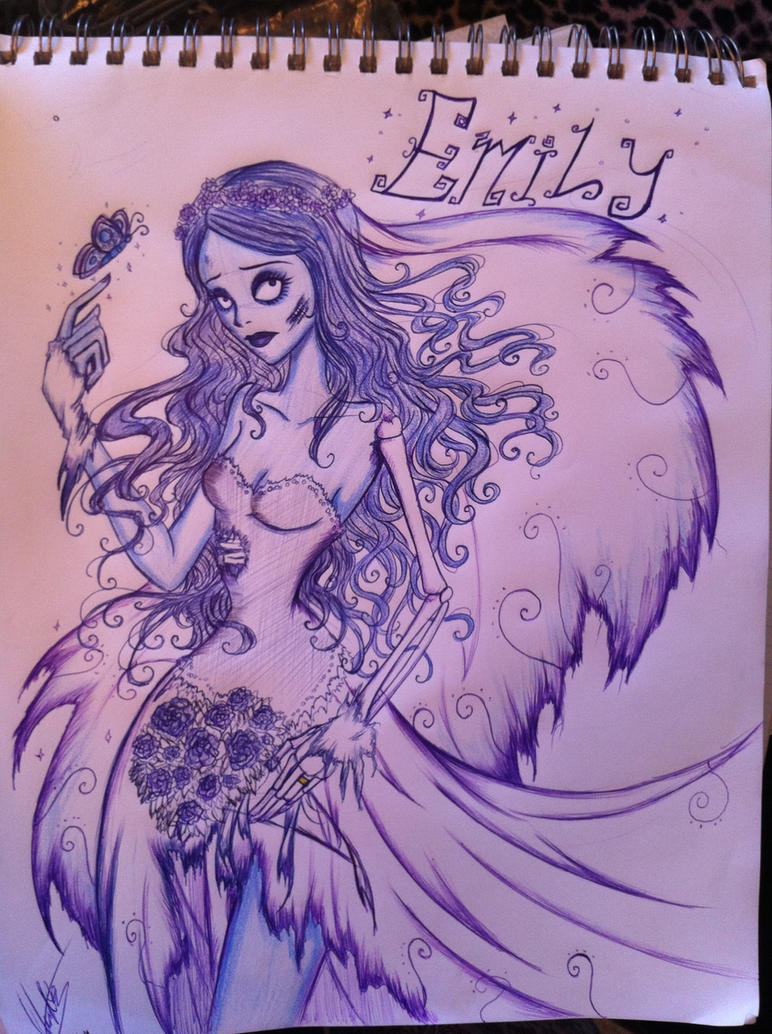 Corpse Bride: Emily Pen Sketch by IceMaidenChiyoe