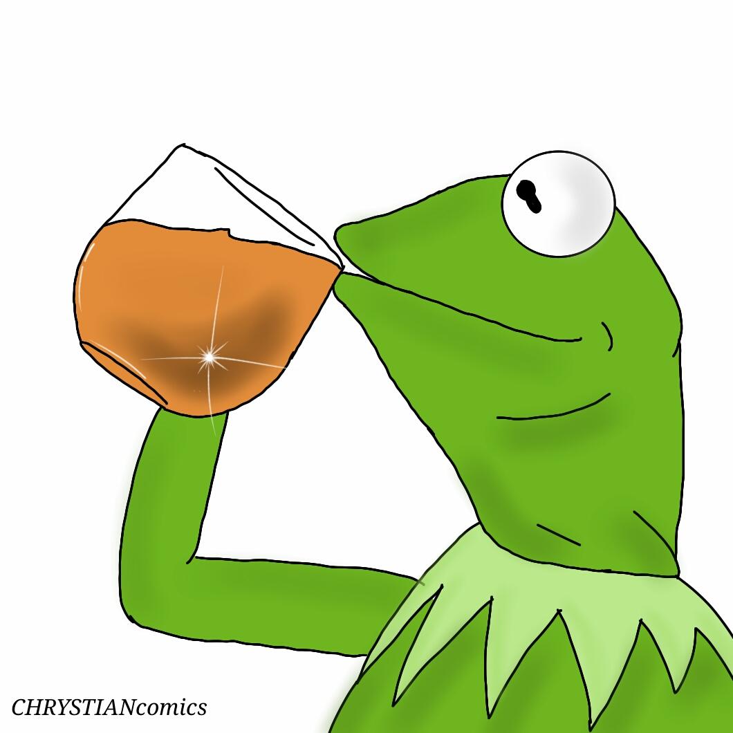 Frog Drinking Tea Emoji