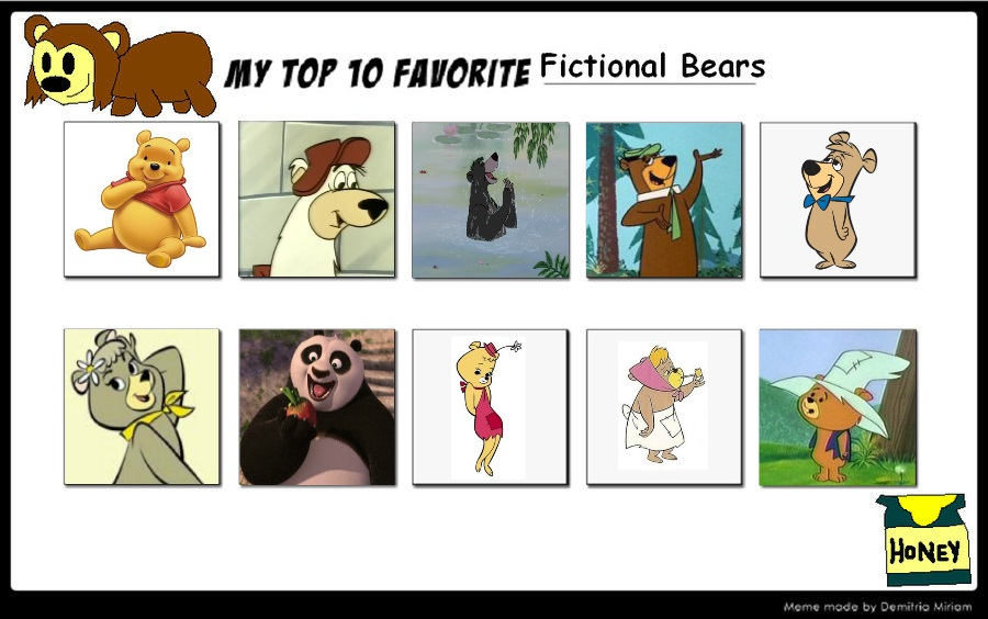 My Top 10 Fictional Bears by topcatmeeces97 on DeviantArt