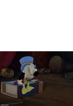 Jiminy Cricket facepalms at what scene