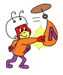 Atom Ant punching a speed bag