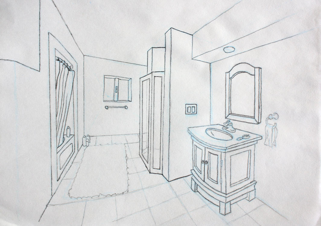 Bathroom Perspective By Andrewosis On Deviantart