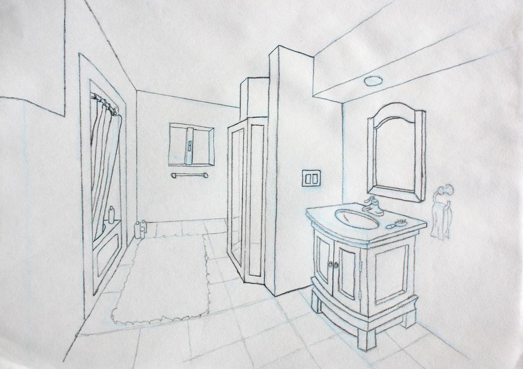 bathroom perspective by andrewosis on deviantart. Black Bedroom Furniture Sets. Home Design Ideas