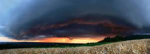 Shelf cloud panorama 22 07 by FlorentCourty