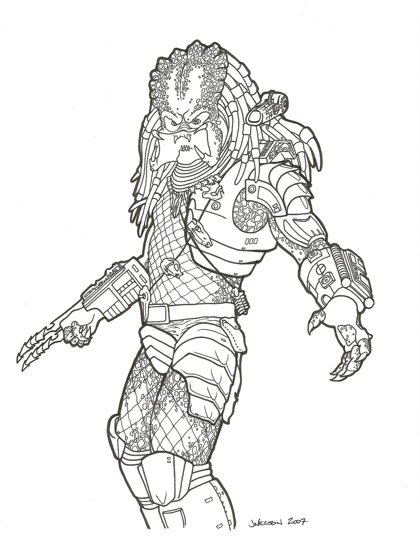 Predator Coloring Pages. coloring pages. drawnwest caveman in ...