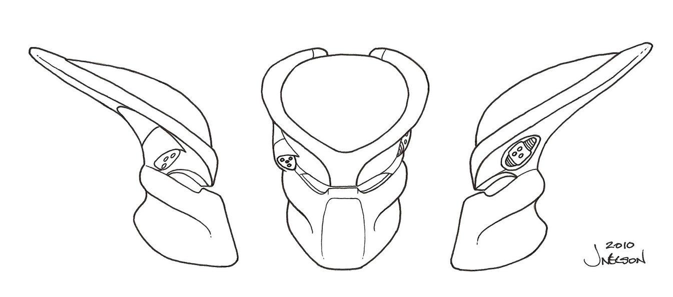 Helmet Mask Template Vast