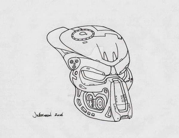 Terminator Bio Helmet Version 2.0 by PredatrHuntr