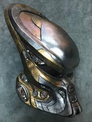 Gort2 Predator Bio Helmet (Silver and Gold)