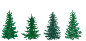 Free Painted Christmas Trees