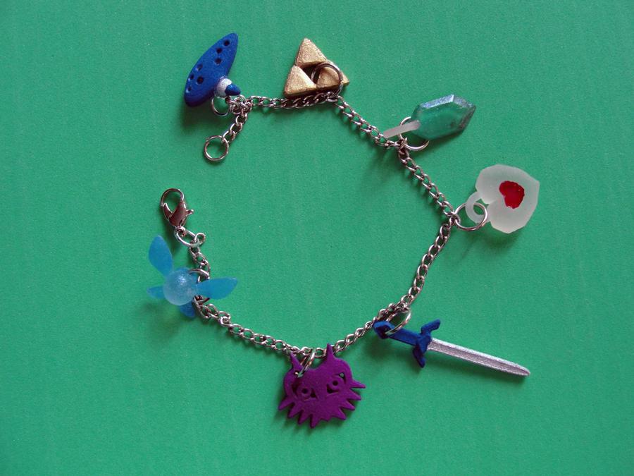 Zelda charm bracelet by silverbeam