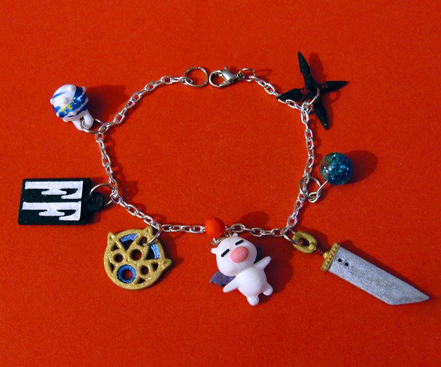 Final Fantasy Charm Bracelet by silverbeam