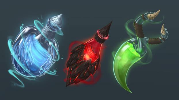 Potion Game UI Illustrations
