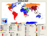 Bajo las Alas de San Juan. World Map 2020.