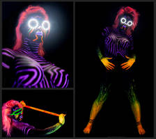 UV Bodypainting Cyber Amazon by Alienjedna