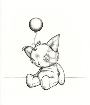 Cat and Balloon 2