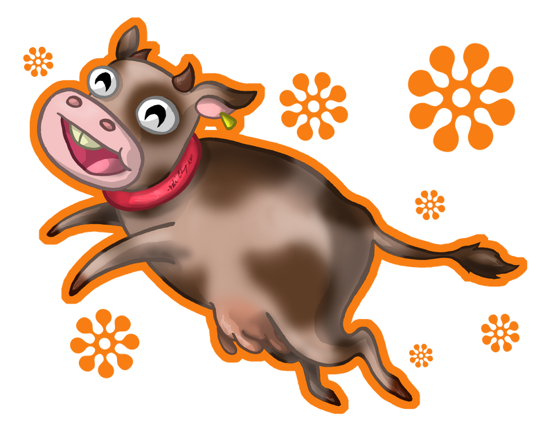 Milk Cow Clipart Chocolate Milk Cow by