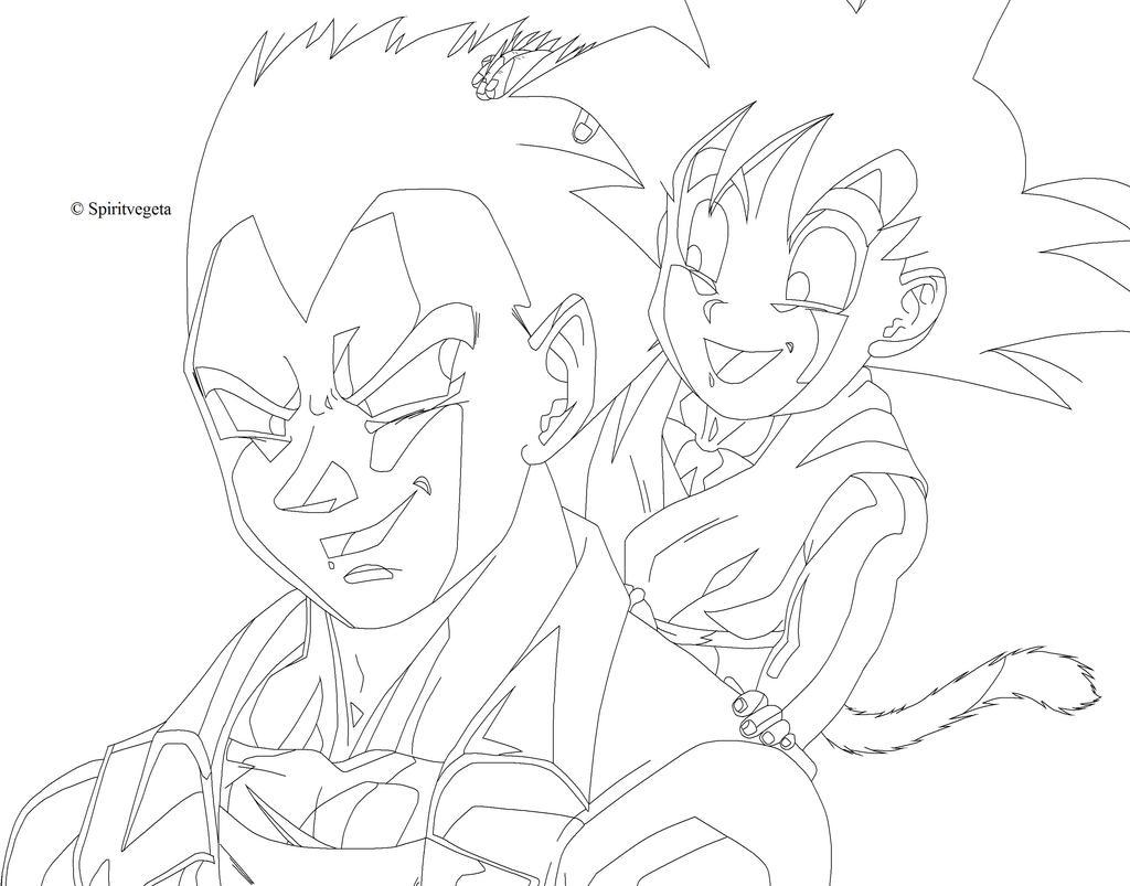 Goku and vegeta free coloring pages for Goku and vegeta coloring pages