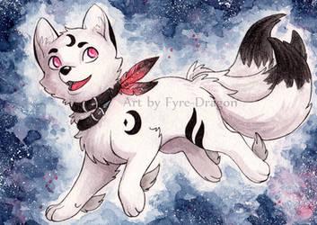 Luna the Moonwolf by Fyre-Dragon