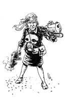 Aunt May-Punisher by natelyon