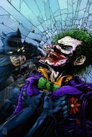 Batman V Joker in COLOUR by natelyon