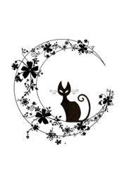 black cat by jetaimerush