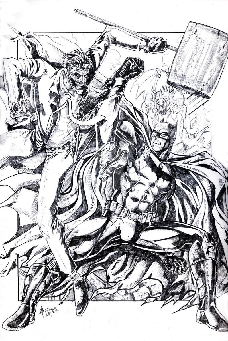The Batman vs. The Joker by jey2dworld