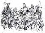 JUSTICE LEAGUE OF AMERICA and THE AVENGERS (WIP)