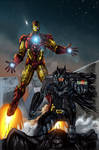 Batman and Iron Man COLORED