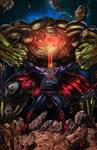 New 52 Superman vs. Hulk Colored