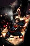 Superman VS. Thor Colored