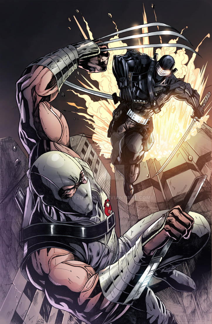 Storm Shadow VS. Snake Eyes Colored by jey2dworld