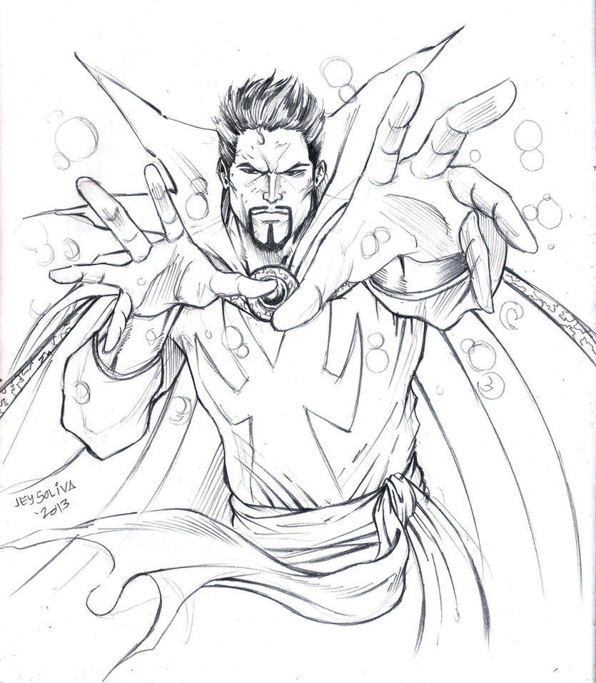 Dr Strange Coloring Pages Sketch Coloring Page